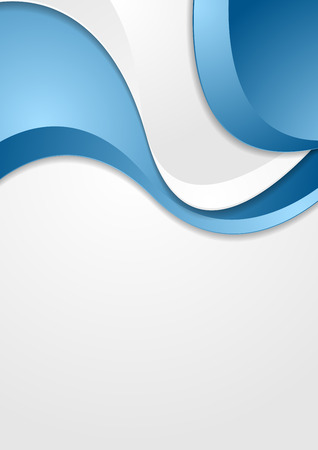 wavy background: Bright blue grey wavy abstract corporate background. Vector graphic design Illustration
