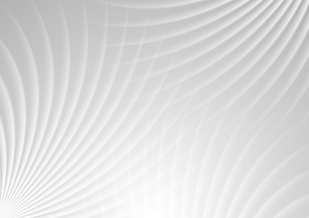 curve: Abstract light grey swirl background. Vector curve beams graphic brochure design Illustration