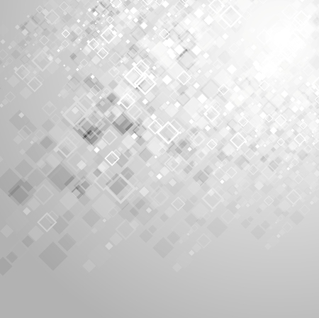 minimal: Abstract tech grey geometric squares background. Diagonal position, vector design Illustration
