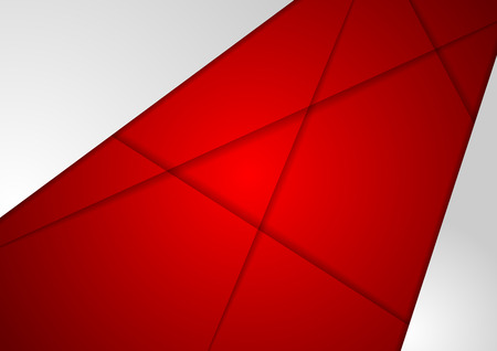 graphic background: Corporate concept red grey background. Vector abstract graphic design