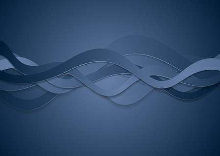 brochure background: Abstract blue corporate wavy brochure design. Vector background