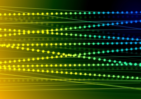vibrant background: Vibrant shiny lines and abstract beads background. Vector design