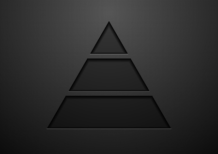 concept design: Abstract black geometric concept triangle graphic design. Vector template brochure dark background