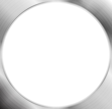 silver circle: Abstract metallic silver blank circle frame. Vector chrome design