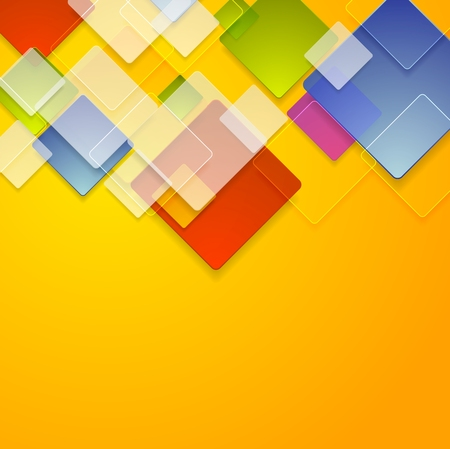 squares background: Colorful glass squares abstract background. Vector geometric bright design Illustration