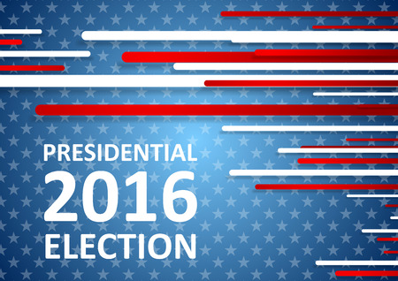 presidential: USA Presidential Election 2016 brochure template. Vector background Illustration