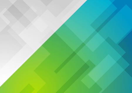 Abstrakt blau grün minimal geometrischer Hintergrund. Technologie Vektor-Design Vektorgrafik