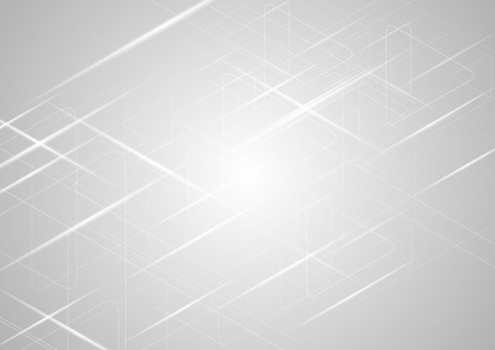 Abstract light grey gradient shiny background. Vector design