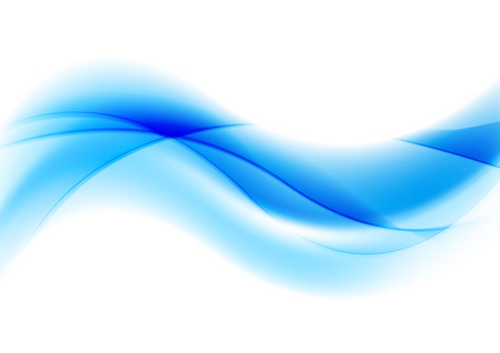 waves abstract: Abstract blue shiny waves vector background Illustration