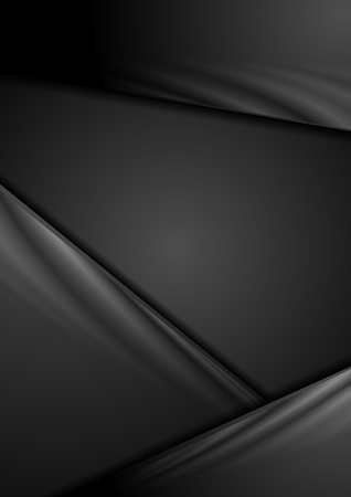 black background abstract: Black abstract gradient corporate background. Tech vector stripes design Illustration