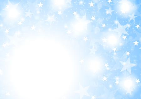 stars  background: Blue shiny sparkling stars abstract background. Christmas vector design