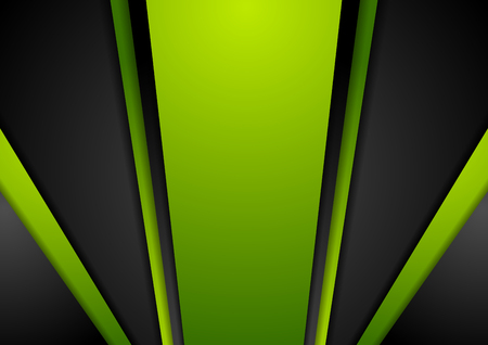 green and black: Vibrant green black abstract background. Contrast corporate vector brochure template design