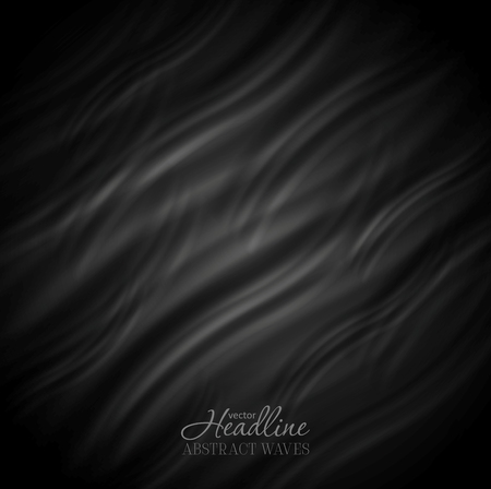 dark backgrounds: Abstract black wavy pattern design. Smooth waves background