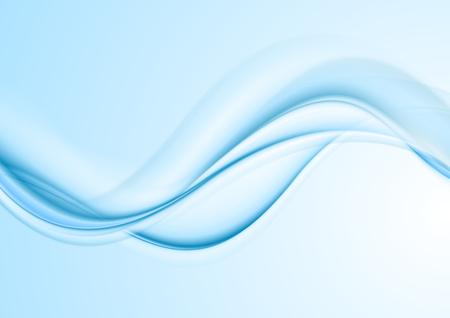 smooth background: Light blue abstract curved wavy background. Smooth waves design