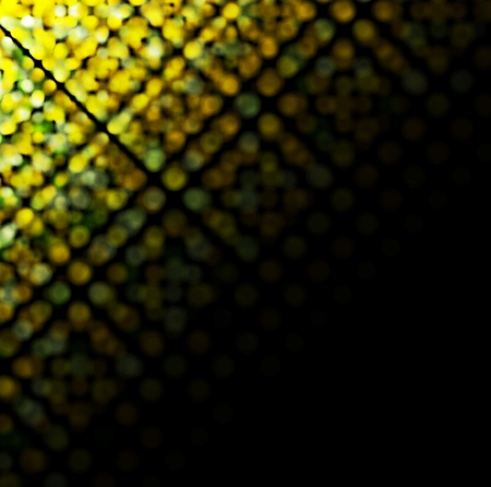 flicker: Bright glowing sparkling circles on black background Illustration