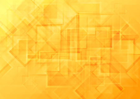 background orange: Bright orange tech geometric background