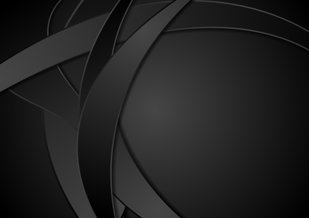 black background abstract: Black corporate abstract wavy background. Vector illustration design Illustration
