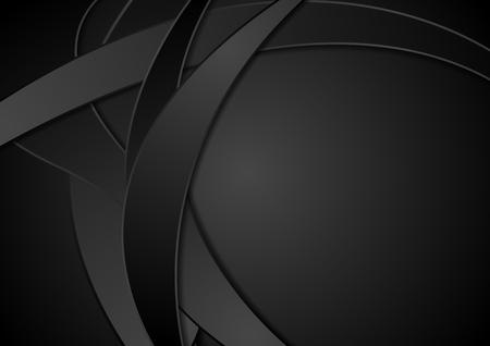 Zwarte bedrijfs abstracte golvende achtergrond. Vector illustratie ontwerp
