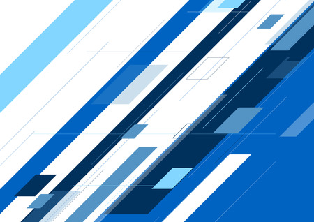 minimal: Blue abstract minimal geometric background. Vector illustration tech graphic design Illustration