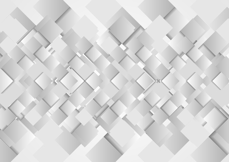 Hi-tech geometric grey squares abstract vector design
