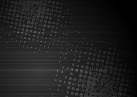 Schwarz Grunge abstrakter Hintergrund mit Halbton und Streifen. Vektor-Design