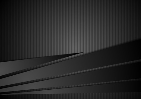black background abstract: Abstract black striped corporate background. Vector design illustration