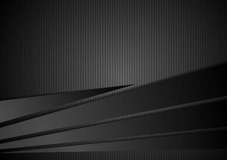 Streszczenie czarne paski korporacyjnego tła. Wektor projektowania ilustracji