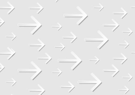 arrows background: Grey abstract tech paper arrows background. Vector light grey modern design