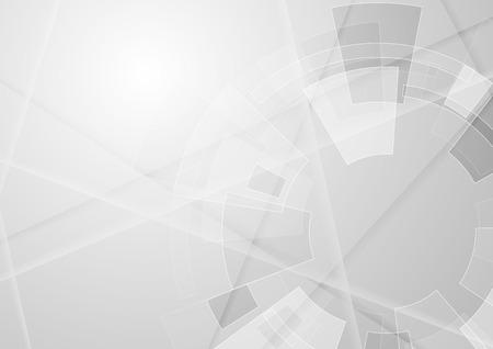 Szare tło technologia geometryczny w kształcie koła zębatego. Wektor abstrakcyjne grafiki Ilustracje wektorowe