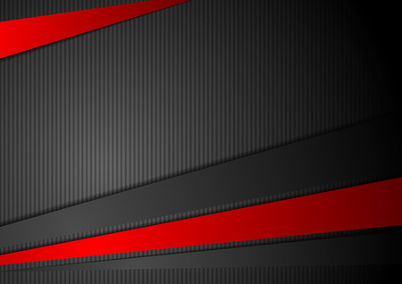 red wallpaper: Tech black background with contrast red stripes. Abstract vector graphic brochure design