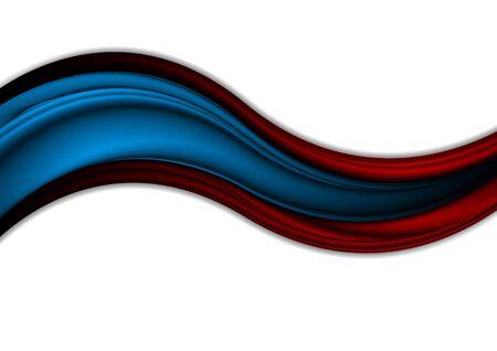 Rote blaue Wellen des abstrakten Kontrastes. Vektor modernen Unternehmenshintergrund