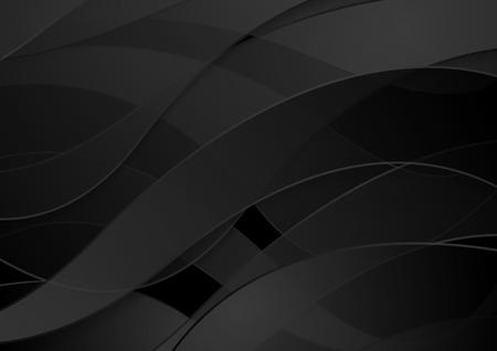 Abstracte zwarte golven concept corporate vector achtergrond