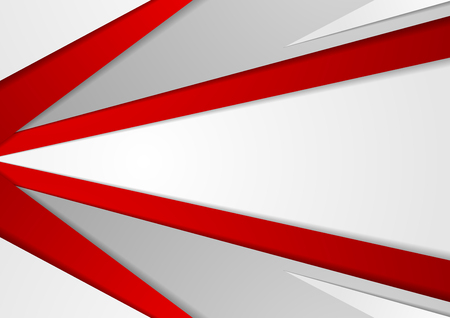 Abstract corporate red grey tech background. Vector minimal graphic design