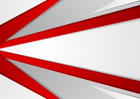Resumen de fondo de alta tecnología rojo gris corporativo. Vector de diseño gráfico mínimo Foto de archivo - 69249396
