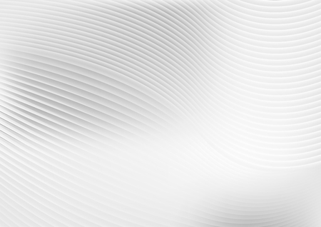 Abstract grey white waves and lines pattern. Vector futuristic template background