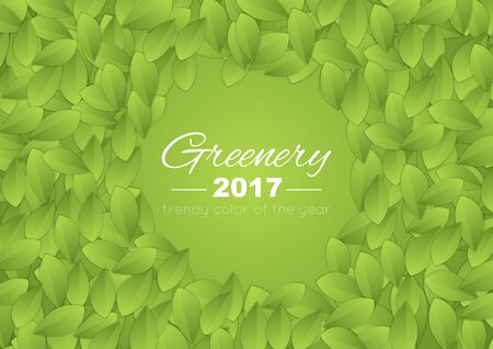 greenery: Color of the year 2017 Greenery abstract background. Summer leaves vector design