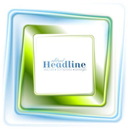 square logo: Abstract bright green blue square logo design. Vector illustration template Illustration