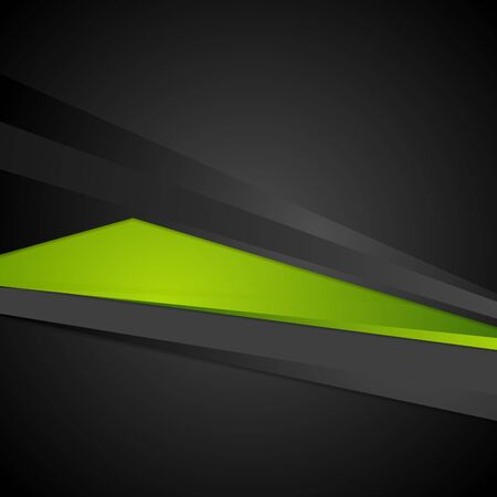 backdrop design: Abstract corporate digital green and black backdrop. Vector graphic design