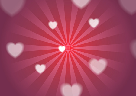 Bright St Valentines Day background with hearts