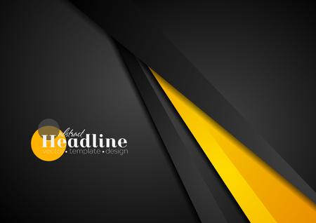 Zusammenfassung Corporate orange schwarz-Tech-Hintergrund