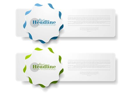 sticker design: Abstract tech web sticker label graphic design. Vector background Illustration