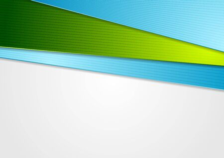 abstract: Blue and green abstract corporate background. Vector illustration Illustration