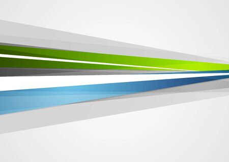 blue and green: Abstract blue and green corporate stripes background. Vector design illustration