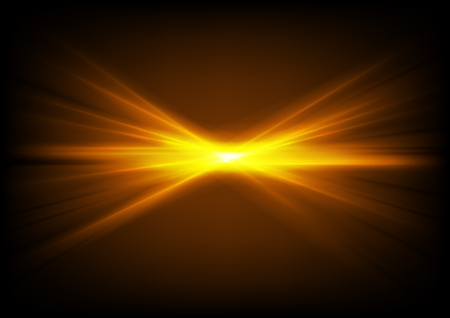 Bright shiny orange glowing laser beams abstract vector backiground