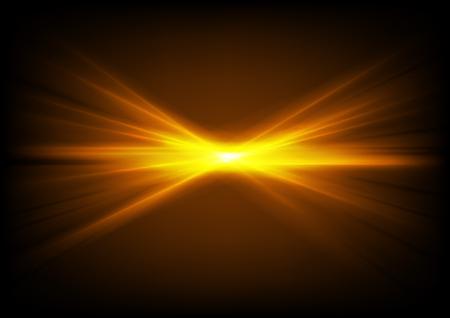 Brillante brillante naranja brillante rayos láser abstracto vector backiground