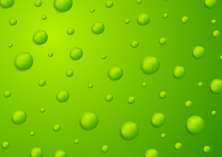 Abstract green 3d drops background. Vector design