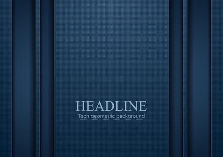 Dark blue tech abstract concept background. Vector corporate design