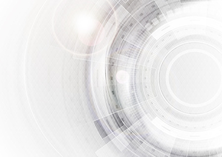 Grey and white futuristic technology abstract background. Vector illustration template