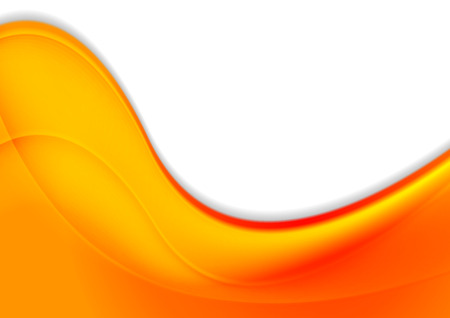 Abstract orange smooth waves vector corporate background