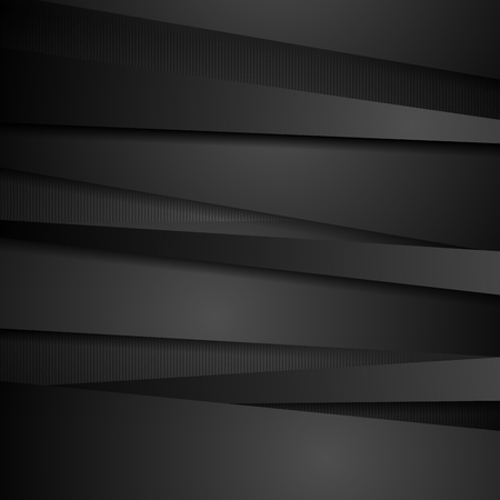 Abstract corporate black stripes tech background. Vector design